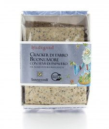 Cracker di Farro con Semi di Papavero