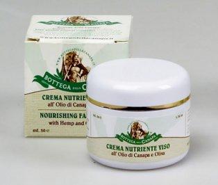 Crema Nutriente Viso all'Olio di Canapa e Oliva