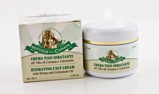 Crema Viso Idratante all'Olio di Canapa e Calendula