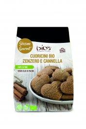 Biscotti Cuoricini con Farro, Zenzero e Cannella Bio