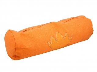 Cuscino Neckroll in Pula con Loto (Senza Lavanda) Arancio