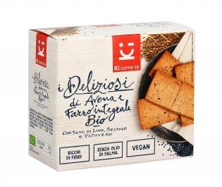 Crackers di Avena e Farro Integrale Bio - I Deliziosi
