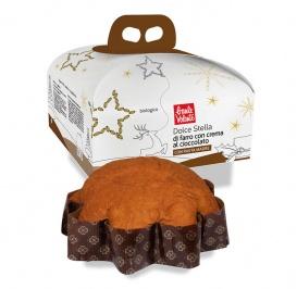 Dolce Stella di Farro con Crema al Cioccolato