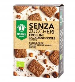 Frollini Biscotti Cacao e Nocciola Bio - Senza Zuccheri