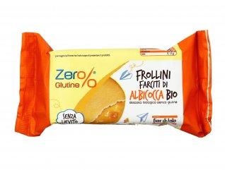 Biscotti Frollini Farciti di Albicocca Bio Senza Glutine