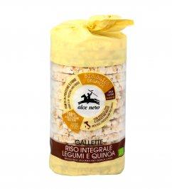 Gallette Riso Integrale, Legumi e Quinoa Bio