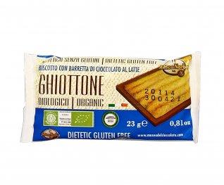 """Biscotto con Barretta di Cioccolato al Latte """"Ghiottone"""""""