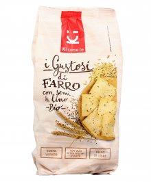 Crackers di Farro con Semi di Lino Bio - I Gustosi
