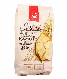 Crackers di Grano Khorasan Kamut con Sesamo Bio - I Gustosi