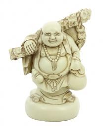 Statuetta in Avorio - Happy Buddha Standing