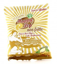 Happy Pop - Chips di Mais & Riso con Erbe Mediterranee