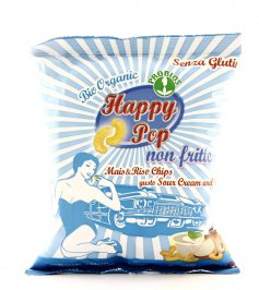 Chips di Mais & Riso gusto Sour Cream & Onion - Happy Pop