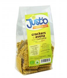 Crackers di Avena con Curcuma Bio - Just'o