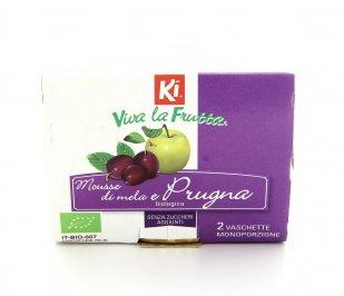VIVI LA FRUTTA - MOUSSE DI MELA E PRUGNA BIO Senza zuccheri aggiunti di Ki Group