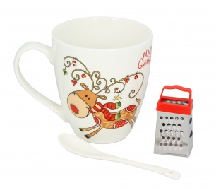 Kit Tazza Mug con Mini Grattugia Renna