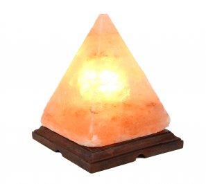 Lampada Piramide di Sale Rosa con Base