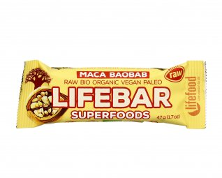 Barretta Vegan con Mirtillo, Maca e Baobab - Lifebar Plus