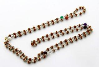 Mala Navaratna Rudrani con Pietre Preziose