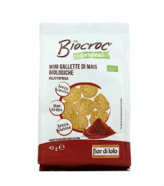 Biocroc Mini Gallette di Mais alla Paprika - 40 gr.
