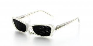 Occhiali Senza Lenti Eye Moving - Modello Mini Bianco Ghiaccio Traslucido Liscio - Th65 P234