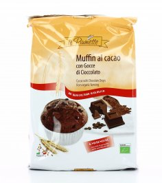 Muffin al Cacao con Gocce di Cioccolato