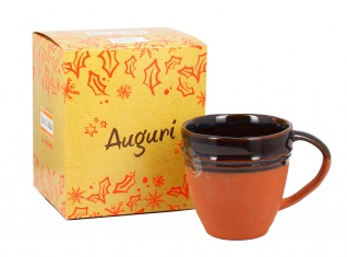 Tazza Mug in Terracotta Marrone