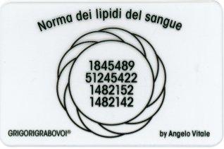 Tessera Radionica 63 - Norma dei Lipidi del Sangue