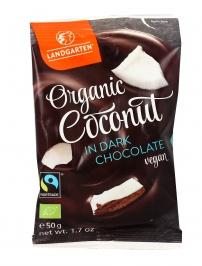 Croccantini di Cocco ricoperti di Cioccolato Fondente