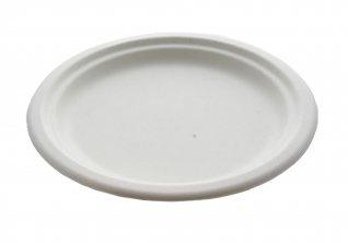 piatto piano in polpa di cellulosa