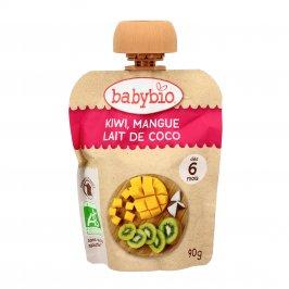 Purea di Frutta Bio da Bere - Kiwi, Mango e Latte di Cocco