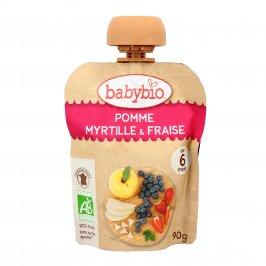 Purea di Frutta Bio da Bere - Mela, Mirtilli e Fragole