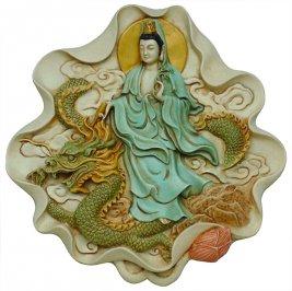 Riproduzione da Parete Kuan-Yin e il Drago