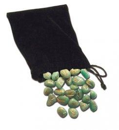 Rune in Avventurina Verde