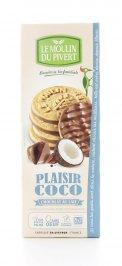Biscotti al Cocco Ricopertio di Cioccolato al Latte Sablès Bio