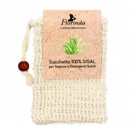 Sacchetto in Fibra Naturale 100% Sisal per Detergenti e Saponi Solidi