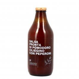 Salsa Pronta di Pomodoro Ciliegino con Peperoni Bio