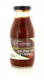 Salsa Pronta di Pomodoro Ciliegino con Olive Nere e Capperi