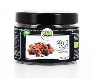 SEMI DI CACAO CRUDI - CRIOLLO VARIETY BIO 250 GR 100% raw food. Fave di cacao crude, da agricoltura biologica, perfette per diete vegan e crudiste di Cibo Crudo
