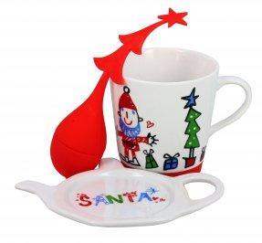 Set Natale Tazza Mug con Filtro e Posafiltro