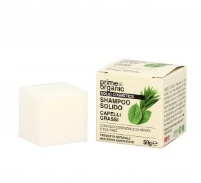 Shampoo Solido per Capelli Grassi con Menta e Tea Tree
