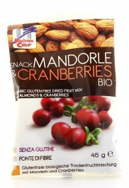 Snack Mandorle e Cranberries