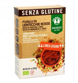 Fusilli 100% Lenticchie Rosse Senza Glutine