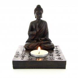 Statua Scura del Buddha con Lumino