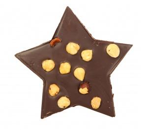 Stella di Cioccolato Extra Fondente con Nocciole