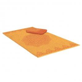 """Telo/Asciugamano da Mare """"Happy Flower"""" Arancione"""