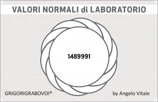 Tessera Radionica 47 - Valori Normali di Laboratorio