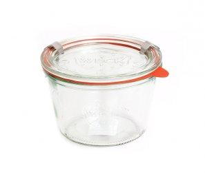 Vasetto In Vetro - Weck Dritto 370 ml con Coperchio 100 mm