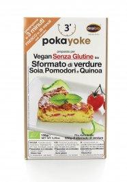 Sformato di Verdure e Soia con Pomodori e Quinioa Senza Glutine
