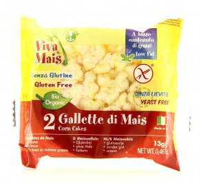 Viva Mais - Galletta di Mais con Sale - Duopack
