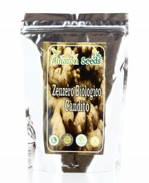 ZENZERO CANDITO BIOLOGICO E VEGAN Snack crudo e privo di glutine di Amazon Seeds